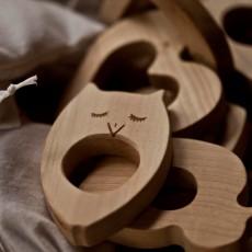 Wooden Story Mordedor de madera lechuza-listing