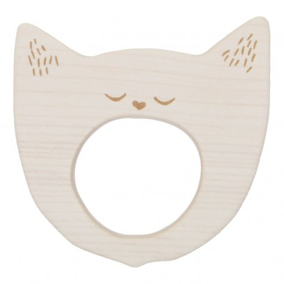 Wooden Story Cat Wooden Teething Ring-listing