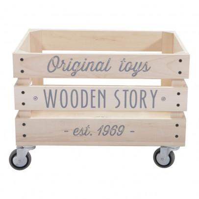Wooden Story Chariot en bois à lattes-listing