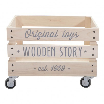 Wooden Story Slatted Wooden Trolley-listing