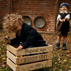 Wooden Story Slatted Wooden Trolley-product
