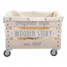 Wooden Story Bolso para carro de madera -listing
