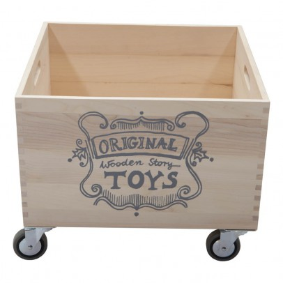 Wooden Story Plain Wooden Trolley-listing