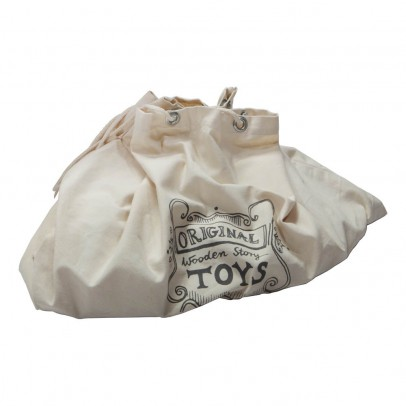 Wooden Story Plain Wooden Trolley Bag-listing