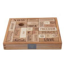 product-Wooden Story Peace and Love - 29 Wooden Blocks