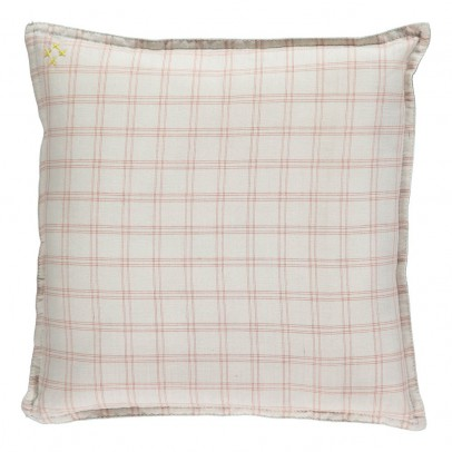 Camomile London Embellished Check Cushion 30x30cm-listing