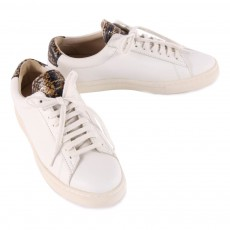 Zespà Gold Leather ZSP4 APLA Trainers with Snakeskin Detailing-listing