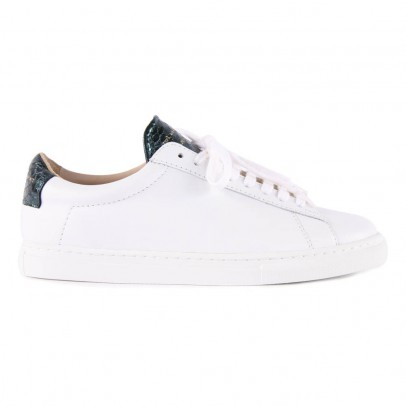 Zespà Green Leather ZSP4 APLA Trainers with Snakeskin Detailing-listing
