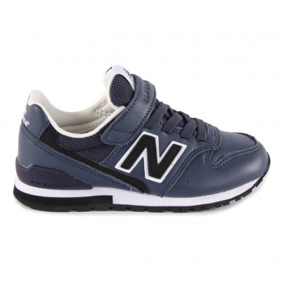 New Balance KV996 Velcro and Elastic Lace Leather Trainers-listing