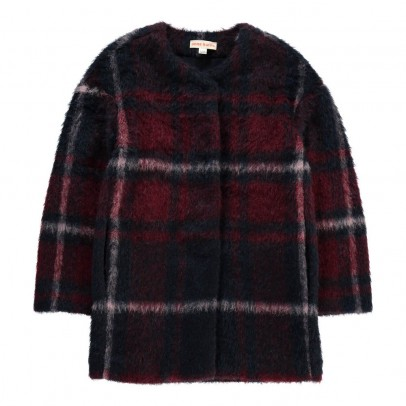 ANNE KURRIS Checked Bunny Coat-listing