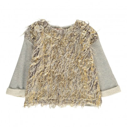 ANNE KURRIS Faux Fur Jungle Sweatshirt-listing