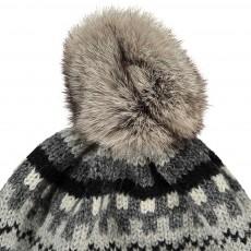 Petit Nord Removable Fur Pompom Knit Hat-listing
