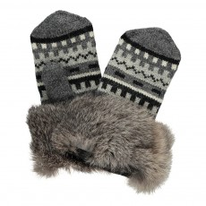 product-Petit Nord Fur Knitted Mittens