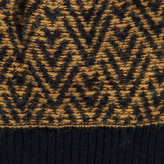 Aymara Fredy Two-Tone Herringhone Alpaca Wool Baby Bonnet-listing
