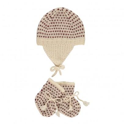 Bonton Polka Dot Alpaca Wool Hat   Slippers-product