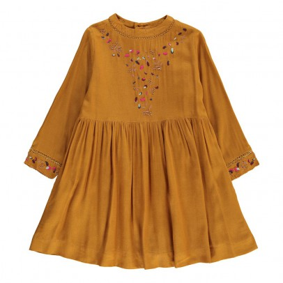 Velveteen Claudia Embroidered Dress-listing