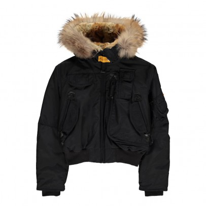 Parajumpers Faux Fur Hooded Gobi Girl Bomber Jacket-listing