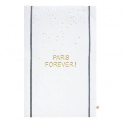 La cerise sur le gâteau Torchon traditionnel brodé Paris Forever 50x80 cm-listing
