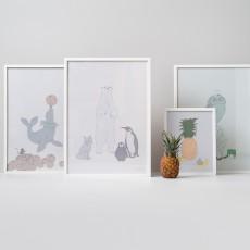 garbo&friends Affiche Famille polaire 50x70 cm-listing