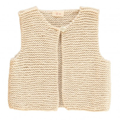 Ketiketa Moss Stitch Sleeveless Cardigan-listing