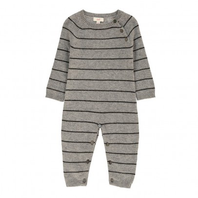 Zef Striped Cashmere Easy Romper-listing