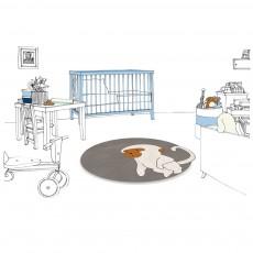 Un tapis à Paris x Baby Alpaga Teppich Affe 95 cm-listing