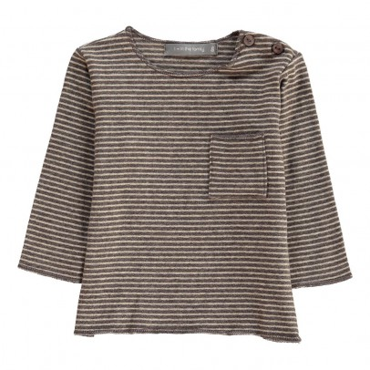 1+ IN THE FAMILY T-Shirt Rayé Bru-listing