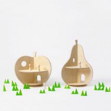 Rock and Pebble Maison Pomme en bois-listing