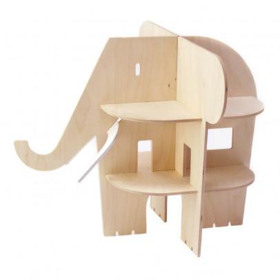 Rock and Pebble Casa Elefante de madera-listing