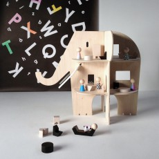Rock and Pebble Wooden Elephant House-listing