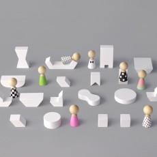 Rock and Pebble Mini Muebles de madera Pebbles-listing