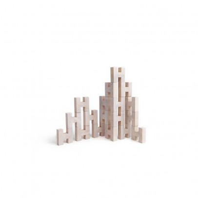Rock and Pebble Block de construction H en bois-listing