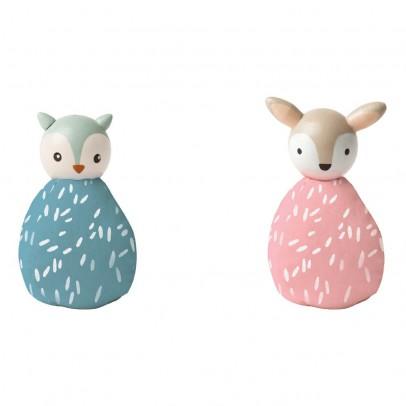 The Manhattan Toy Company Set 2 animali civetta e cerbiatto-listing