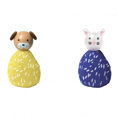 The Manhattan Toy Company Set de 2 animaux chien et chat-listing