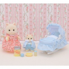 Sylvanian Maman Chat et son bébé-listing