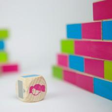 Milaniwood Juego de madera Construye tu muro-listing