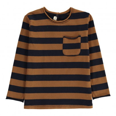 Babe & Tess Striped T-shirt with Pocket Detail-listing