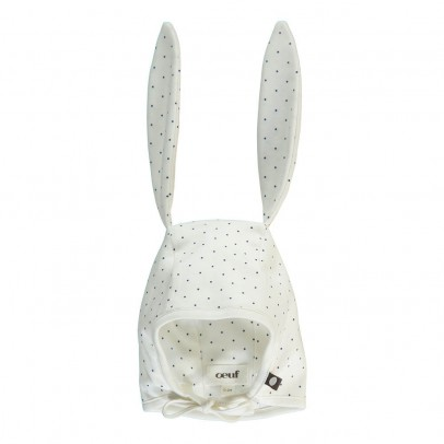 Oeuf NYC Bonnet Lapin Pois Coton Pima Bio-listing