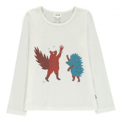 Oeuf NYC Organic Pima Cotton Hedgehog Squirrel T-Shirt-listing