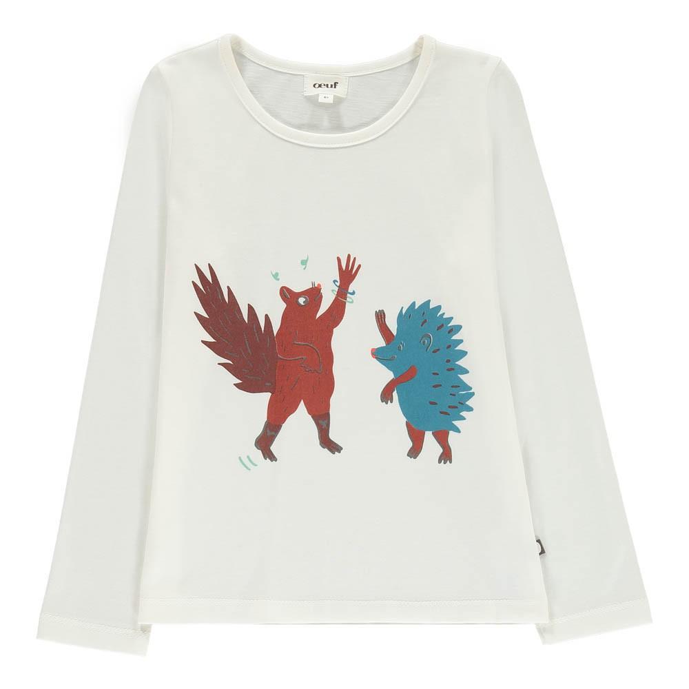 Oeuf NYC Organic Pima Cotton Hedgehog Squirrel T-Shirt-product