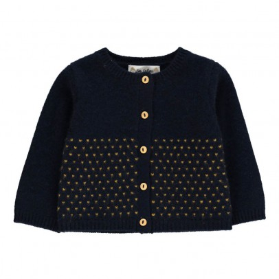 Les lutins Maia Polka Dot Cashmere Cardigan-product