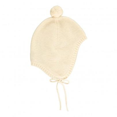 Les lutins Bonnet Cachemire Pompon Lien Baptiste-listing