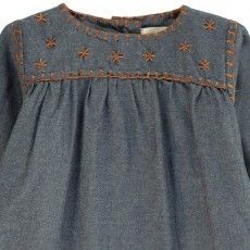 Ketiketa Baby Marianne Embroidered Chambray Dress-product