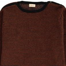 Ketiketa Cashmere Stripe Jumper with Buttoned Collar-listing