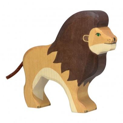 Holztiger Wooden Lion Figurine-listing