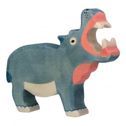 Holztiger Figurine en bois hippopotame-listing