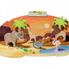 Holztiger Wooden Hippopotamus Figurine-listing