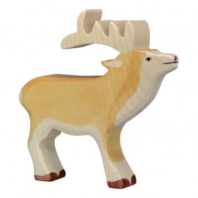 Holztiger Statuetta in legno Cervo-listing