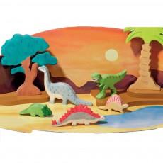 Holztiger Statuetta in legno Stegosauro-listing