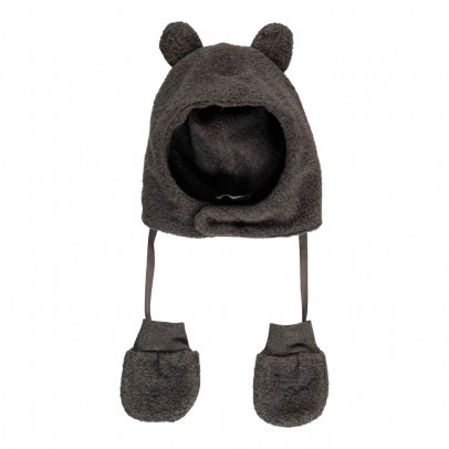 1+ IN THE FAMILY Linus Fleece Mittens and Ear Muff Hat-listing